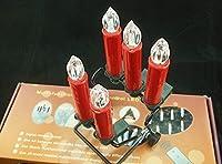 WinterwormワイヤレスリモートコントロールヴィンテージクラシックLEDキャンドルパーティーウェディングホテルクリスマスホーム装飾–セットof 10 Yellow Flame レッド