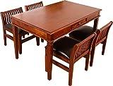 ダイニング5点セット アジアン家具 おしゃれ 天然木製 マホガニー無垢材 幅130cmダイニングテーブル