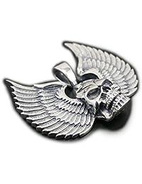 linsionゴシック925スターリングシルバーBat WingスカルペンダントメンズバイカーJewerly 8 C012