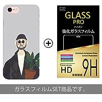 iPhone8 / iPhone7 ケース カバー+ ガラスフィルムセット 【 Type4 】 iPhone 8 iPhone 7 共用 / アイフォン7 / アイフォン8 / / レオン/マチルダ / LEON/デザインケース