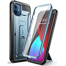 SUPCASE Unicorn Beetle Pro Series Case for iPhone 12 Mini (2020 Release) 5.4 Inch, Built-in Screen Protector Full-Body Rugged Holster Case (Cerulean)