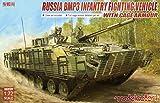 モデルコレクト 1/72 ロシア陸軍 BMP-3 歩兵戦闘車 w/ケージ装甲 クルーフィギュア & エッチングパーツ付 プラモデル MODUA72179
