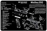 Walther PPQ(ワルサー) ハンドガン クリーニングマット(約43.5 x 29cm) / デスクマット