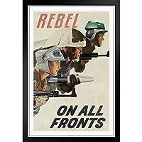ファッション絵画 - 欧米風ポスター -あらゆる面での反乱同盟プロパガンダ -壁掛け 壁飾り - 33x23cm(額縁を送る)
