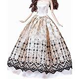 11.81インチのドール05のための2つの新しいまともな美しいウェディングドレススカートのセット