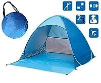 サンシェードアウトドアキャンプテントハイキングビーチサマーテントUVプロテクションフルオートサンシェードポータブルポップアップビーチテント