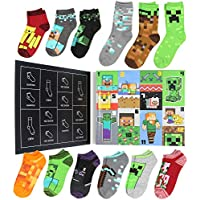 Minecraft Kids 12 Days of Socks Holiday Advent Calendar