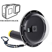 Betapleon 6 inches Underwater Dome Port for GoPro Hero 5 Hero6 Black with Waterproof Housing and Protective Bag for Underwater Photography