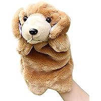 Remeehi ハンドパペット 動物 手 人形 アニマル ハンド パペット 幼児 情操 教育 親子 おもちゃ 知育 人形劇 小道具 犬 1#