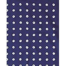 プレーリー そそぎ染め(注染)手ぬぐい ぷち手ぬぐい ハンカチサイズ 絞り玉 青 33×43cm TP-346-B