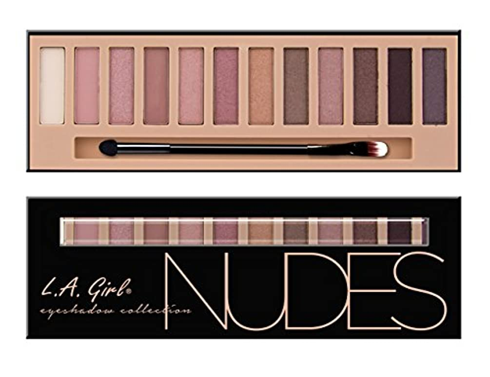 (3 Pack) LA GIRL Beauty Brick Eyeshadow Collection - Nudes (並行輸入品)