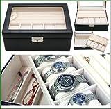 ベローナ 2段 牛革 ジュエリーボックス 5本時計収納ケース  ウォッチ コレクション ケース メンズ 紳士用 レディース用