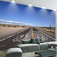 Lcymt カスタム3Dの夢美しい砂漠の道ロックキャニオン写真の壁紙壁画のリビングルームレストランカフェの背景H-120X100Cm