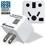 RW111WH ロードウォーリア Ren!con レンコン(ホワイト) 日本国内専用 電源プラグ マルチ変換アダプター BF,C,SE,O,O2,B3,CB (UK/EU/AU/CN/IN等)プラグタイプに対応 電気用品安全法PSE取得商品
