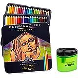 Prismacolor Premier Soft Core Colored Pencil Set of 48 Assorted Colors (3598T) + Prismacolor Scholar Colored Pencil Sharpener (1774266)