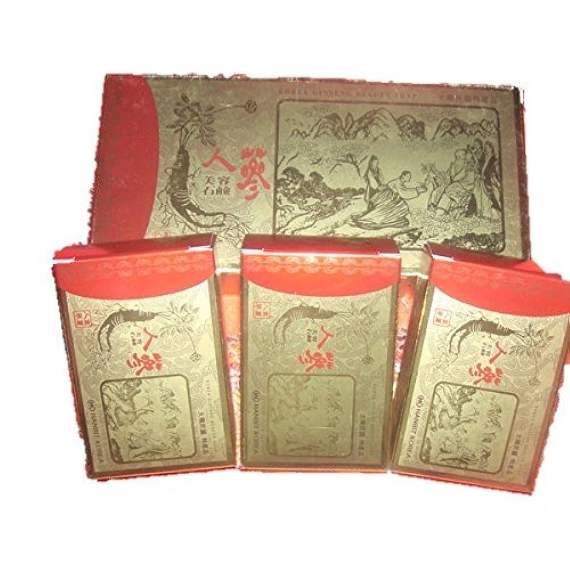 洞察力のある四分円ケープ(韓国ブランド) 韓国 高麗人参 美容石鹸(3個×3セット)
