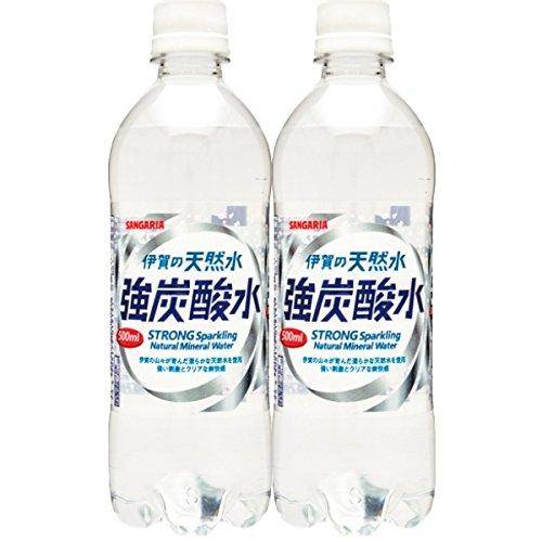 【2CS】サンガリア伊賀の天然水強炭酸水500ml×48本日本サンガリア