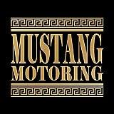 マスタング モータリング ステッカー ゴールド 金