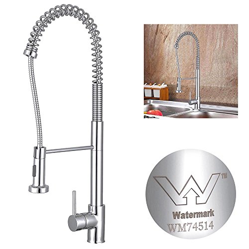 Yescom Chrome Swivel Kitchen Mixer Tap Pull Out Down Basin Sink Faucet Watermark WELS 2 Function Sprayer