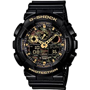 [カシオ]CASIO 腕時計 G-SHOCK ジーショック Camouflage Dial Series GA-100CF-1A9JF メンズ