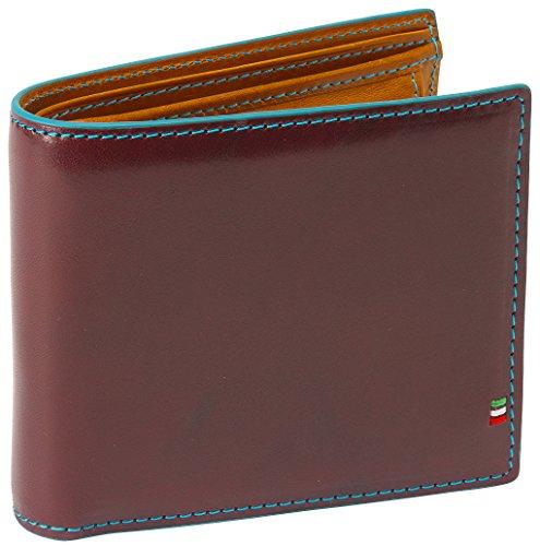 [ゴルベ] GORBE イタリアンレザーカラーエッジ二つ折り財布(バーガンディ)1021