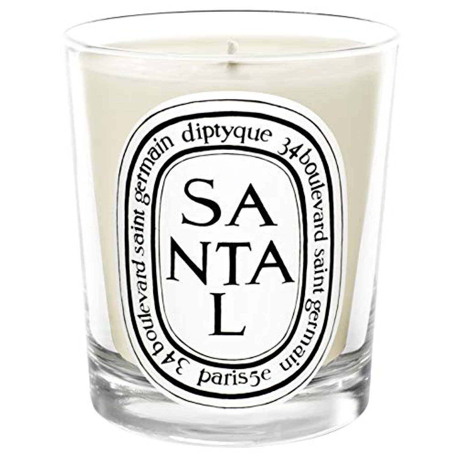 天誤って生命体[Diptyque] Diptyqueのサンタル香りのキャンドル190グラム - Diptyque Santal Scented Candle 190g [並行輸入品]