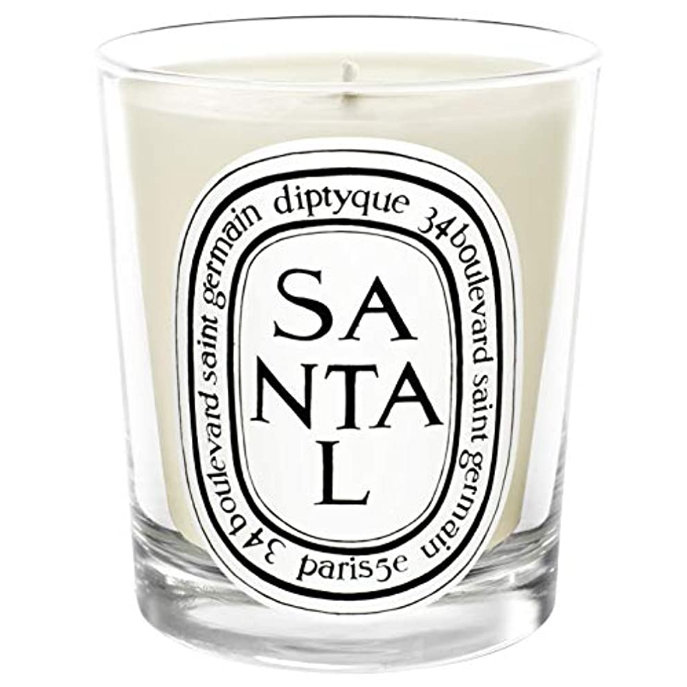 乗算驚くべきミシン目[Diptyque] Diptyqueのサンタル香りのキャンドル190グラム - Diptyque Santal Scented Candle 190g [並行輸入品]