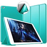 VAGHVEO iPad Air 2 ケース 超薄型 超軽量 TPU ソフトスマートカバー オートスリープ機能 衝撃吸収 三つ折りスタンド 全7色 for Apple iPad Air 2 9.7インチ - ミントグリーン