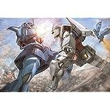 1000ピース ジグソーパズル 機動戦士ガンダム 砂漠の戦闘(49x72cm)