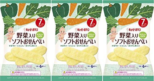 キユーピー 野菜入りソフトおせんべい 2枚×6袋 【7ヵ月頃から】×3個