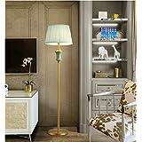 銅のフロアランプヨーロッパのミニマリストの現代寝室のリビングルームセラミックランプの読書灯