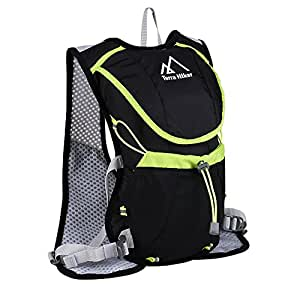 Terra Hiker ランニングバッグ 超軽量 サイクリングバッグ アウトドア ハイドレーションバック スポーツ用 ウォーキングバッグ ジョギング マラソン レース 登山 遠足 (水袋は付属していない)