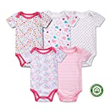 (マザーネスト) Mother Nest カバーオール 新生児から ロンパース 赤ちゃん 綿100 半袖 Baby ボディースーツ 5枚セット ベビー服 Bodysuit BBT055-9MS