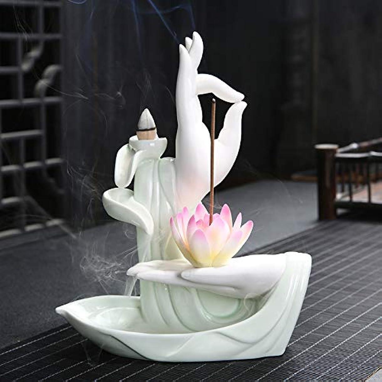 香の棒のホールダーの陶磁器の技術の香炉の陶磁器の滝の香炉の香炉のベルガモットの大きい蓮の香の棒21.2 * 16.5 * 7.8cm