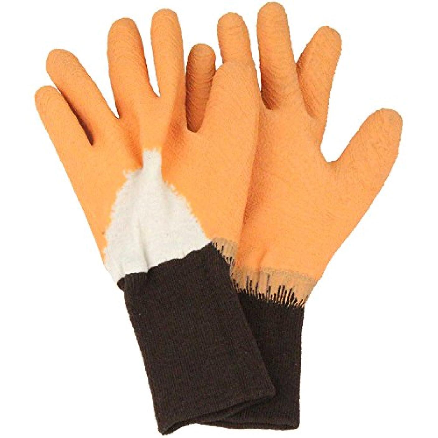 テキスト終了する特性セフティー3 トゲがささりにくい手袋 オレンジ L