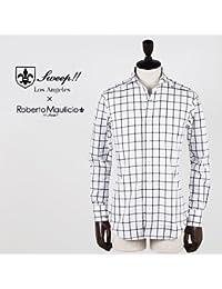 ROBERTO MAULICIO DA SWEEP!! ロベルトマウリシオ バイ スウィープ!! ラインチェックシャツ (ホワイト)