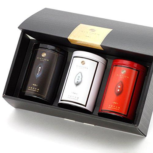 京都利休園 お茶 3大茶セット「白・黒・紅」(白煎茶 黒ほうじ...
