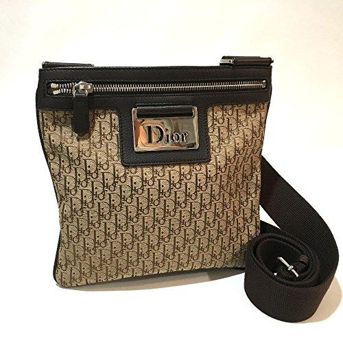 (クリスチャンディオール) Christian Dior ヴィンテージ  トロッター ロゴ金具 ショルダーバッグ キャンバス×レザー レディース 中古