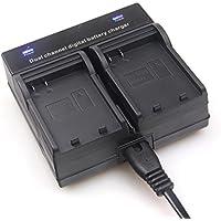Eoogere デュアルチャネルバッテリー充電器 バッテリチャージャ ダブル充電器 デジタルカメラ用 2個同時充電可能 (Sony NP-FH50/FP/FV)Sony NP-FP50/NP-FP60/NP-FP70/NP-FP71/NP-FP90NP-FH50/NP-FH60/NP-FH70/NP-FH100NP-FV50/NP-FV70/NP-FV100など