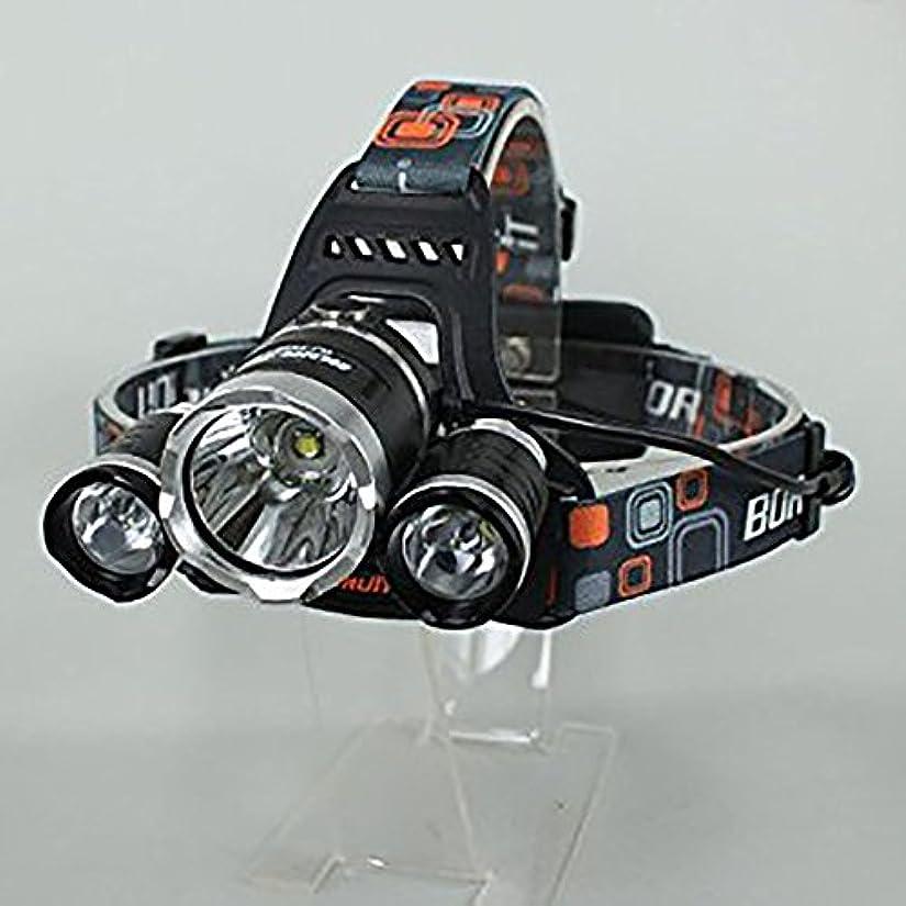 肺不器用ラッカス【超強烈光】 CREE XM-L T6 ×3 LED 充電式 ハイパワーヘッドライト 【3000LM】 【リチウムイオン充電池18650付き】 【生活防水仕様】 【並行輸入】