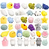 WATINC 30 Pcs Cute Animal Squishy, Kawaii Mini Soft Squeeze Toy,Fidget Hand Toy for Kids Gift,Stress Relief,Decoration, 30 Pack