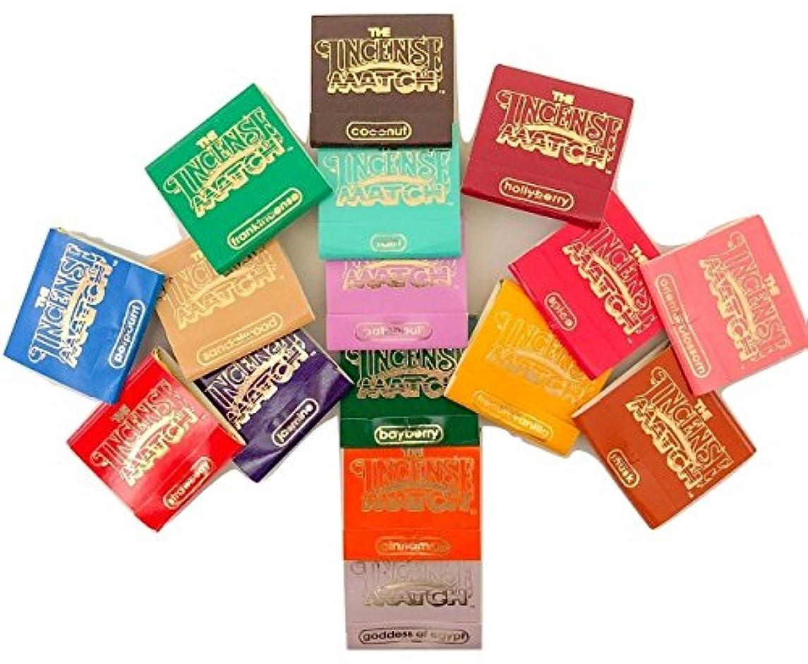 ボリューム愛情深い学生Incense Matches: Lot of 10 Assorted Variety Scented Match Books, 300 strikes