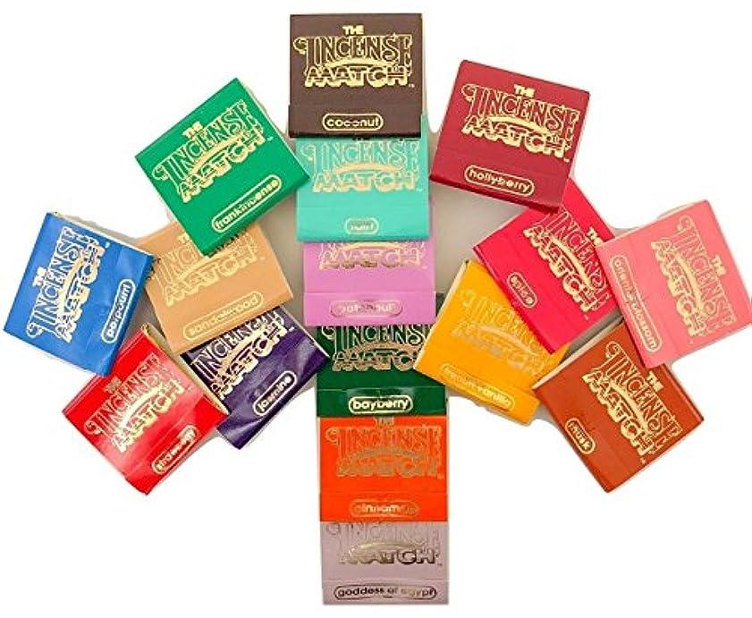 ストレスの多い生じる農学Incense Matches: Lot of 10 Assorted Variety Scented Match Books, 300 strikes