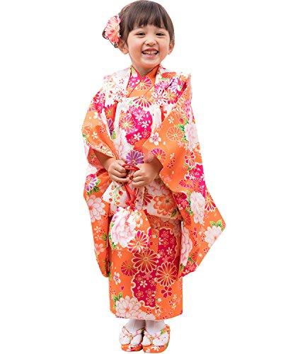 (キョウエツ) KYOETSU 七五三 3歳 着物 女の子 被布セット フルセット お祝い着 16柄