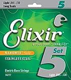 Elixir エリクサー ベース弦 NANOWEB ステンレス Long Scale 5弦 Light .045-.130 #14777 【国内正規品】