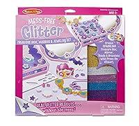 Melissa & Doug mess-free Glitter Treasureボックス、ミラーとジュエリーセット