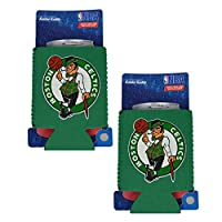 (Boston Celtics) - NBA Fan Shop Authentic 2-Pack Insulated 350ml Cold Can Cooler/Holder. Show Team Pride At Home, Tailgating or at the Game. Great for Fans