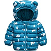 Elonglin Baby Kids Cotton Padded Jacket Winter Hooded Coat Puffer Jacket Lightweight Top Outfits