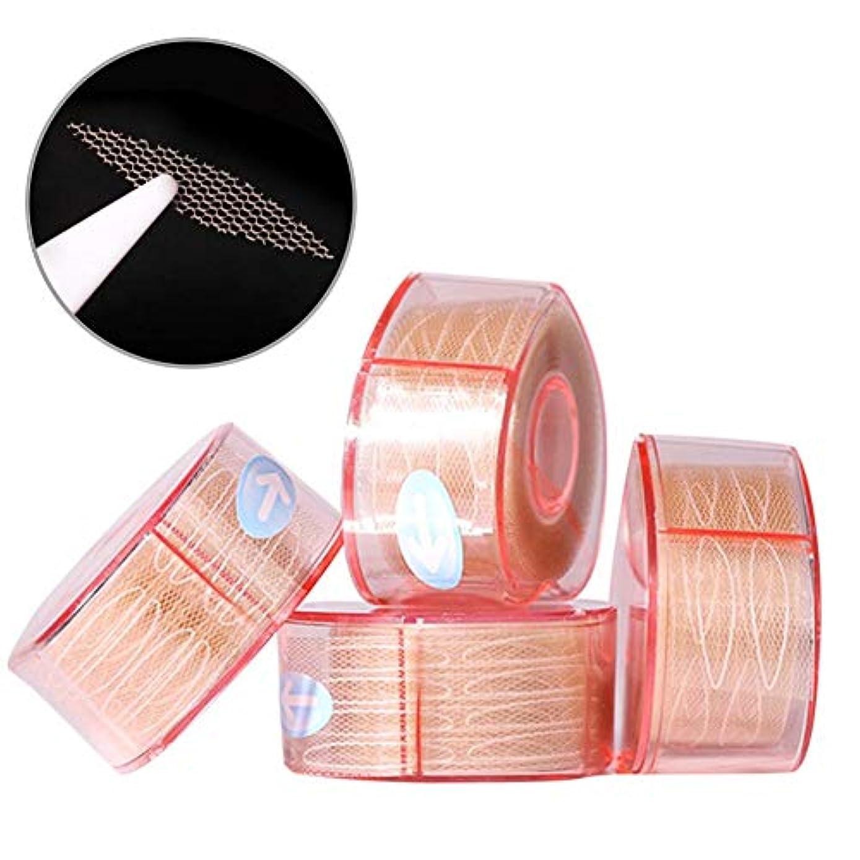 ラケットサージ恐れナチュラルアイテープ 二重まぶたステッカー 二重まぶたテープ 300組セット メッシュ 見えない バレない 通気性 アイメイク 4タイプ選べる junexi