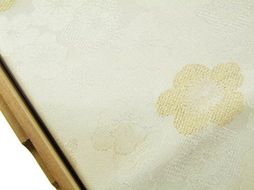 礼装用 正絹 手組紐 織細金銀糸使用 帯締め 縫取り 帯揚げ 金銀扇子 亀 4点セット 留袖用 桐箱入り (梅花(t-6))